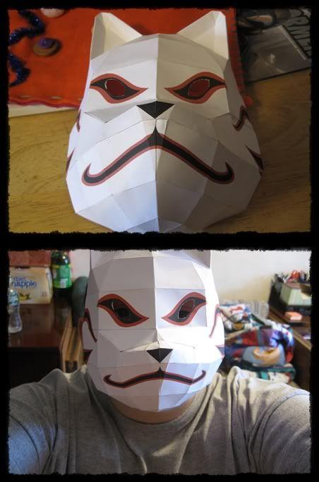 kakashi anbu mask papercraft instructions