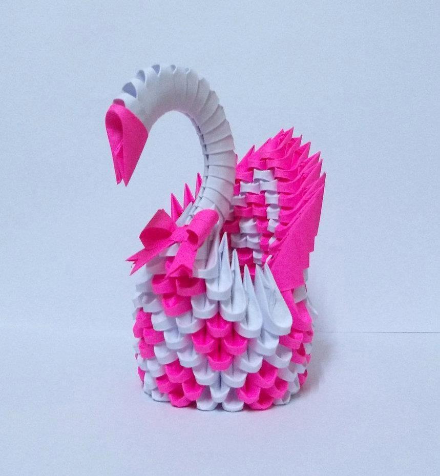 modular origami instructions swan