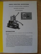 bell and howell 16mm projector instructions