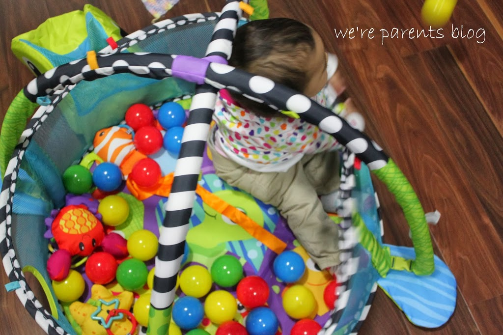 infantino grow with me activity gym & ball pit instructions