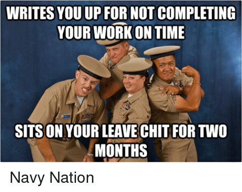 navy leave chit instruction