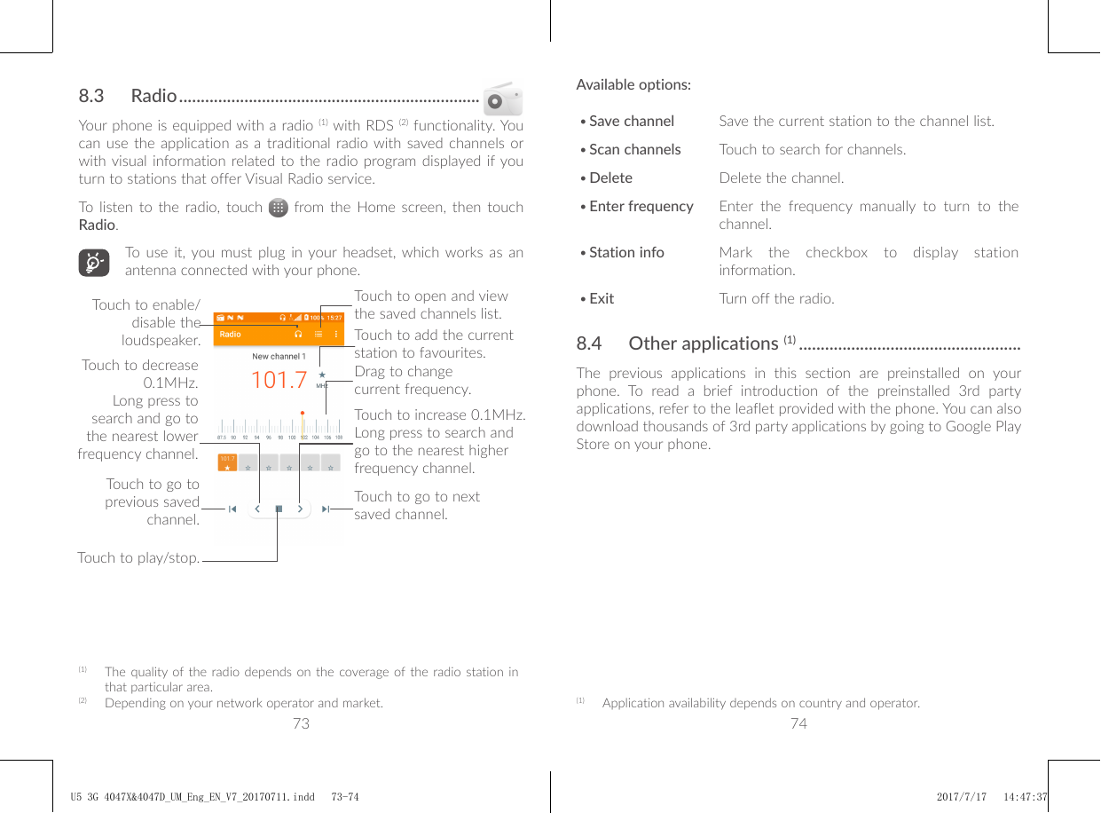 instructions to use alcatel u5 phone