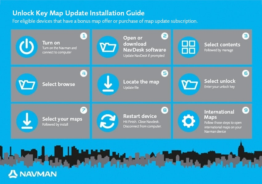 map installation instructions navman