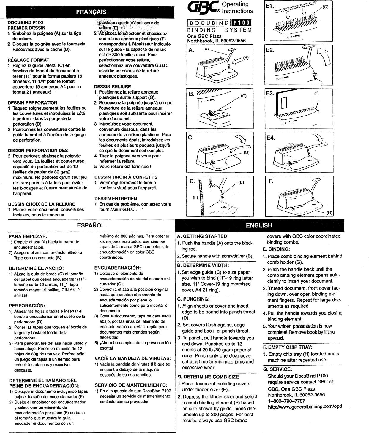 gbc docubind p200 instruction manual