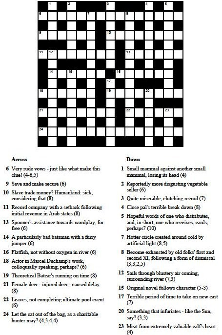word for instructive clue in cryptic crossword