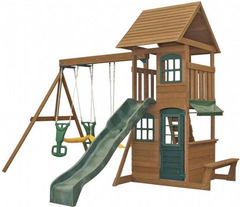 big backyard windale wooden swing set instructions