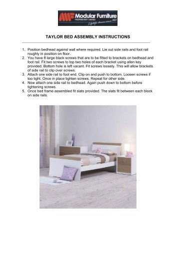 carter bunk bed instructions