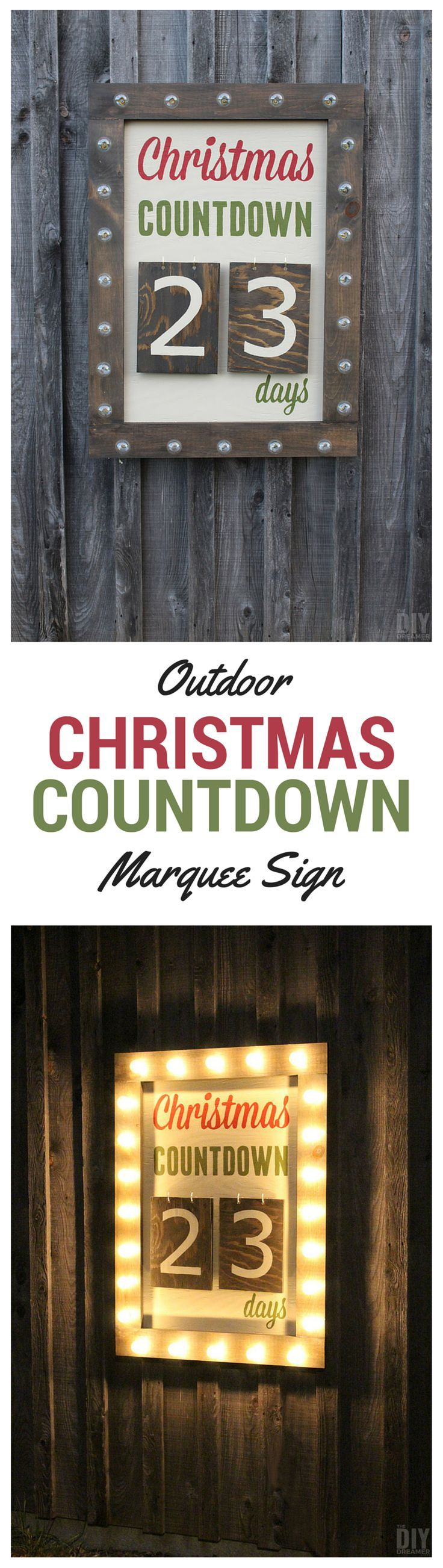 christmas countdown sign instructions