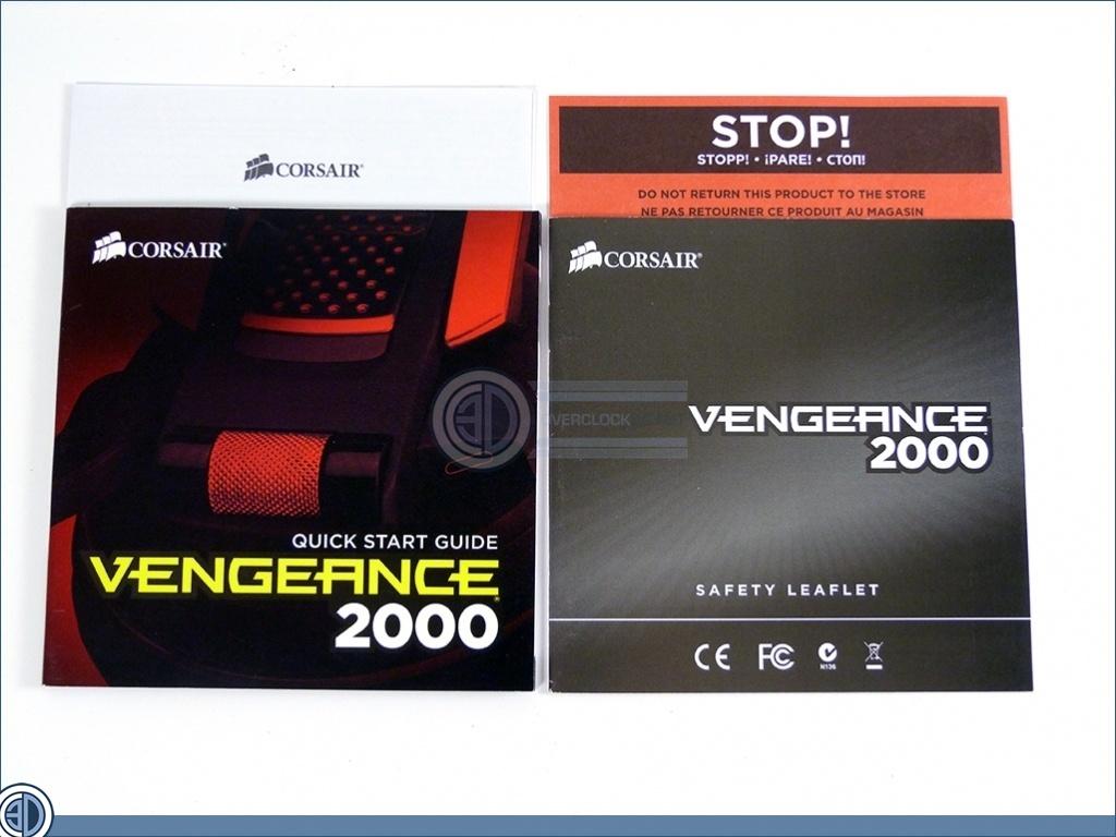 corsair vengeance 2000 instructions