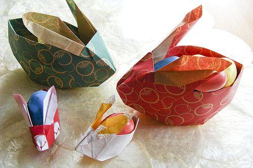 origami egg holder instructions
