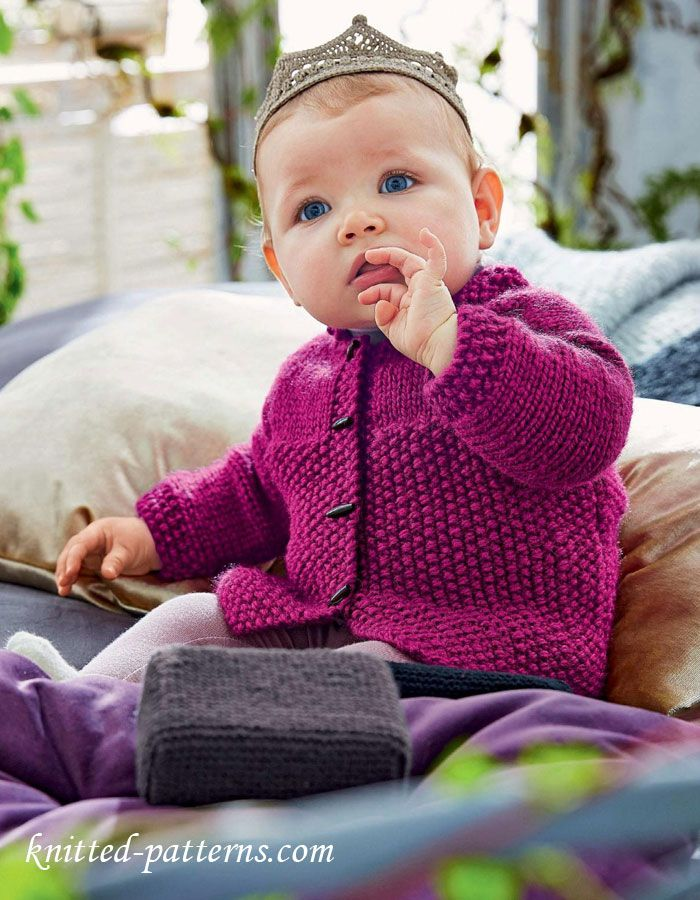 kids knitted cardigan instructions