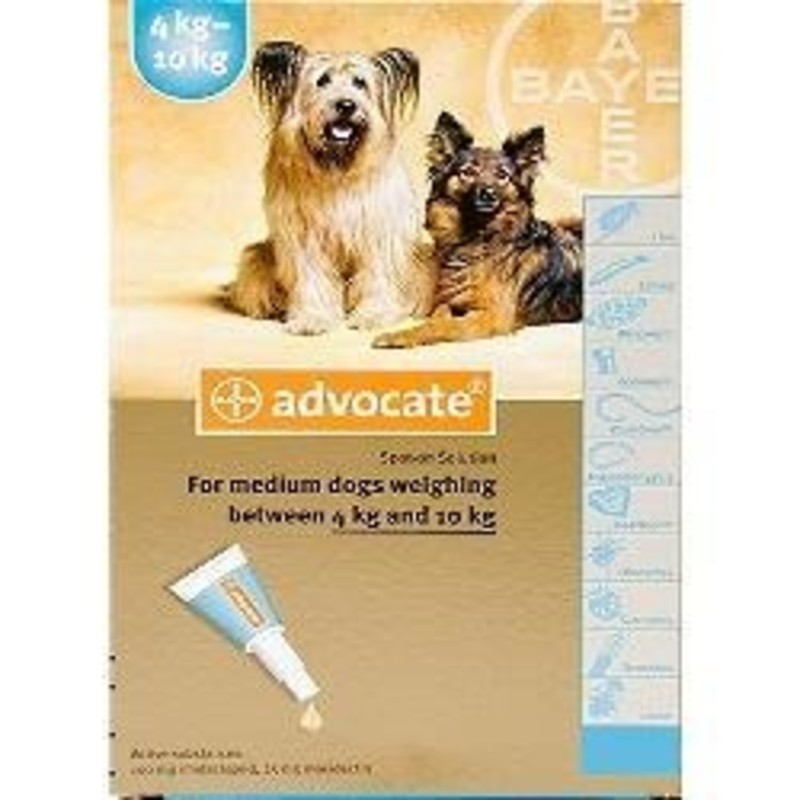 advocate for dogs 4-10kg instructions