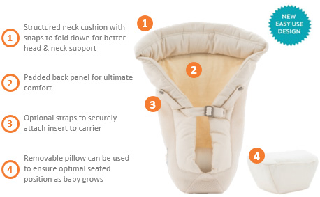 ergobaby infant insert washing instructions