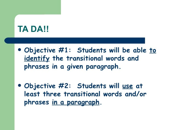 what is writing instructional objectives