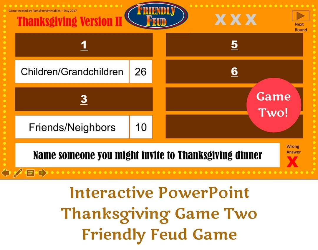 family feud electronic game instructions