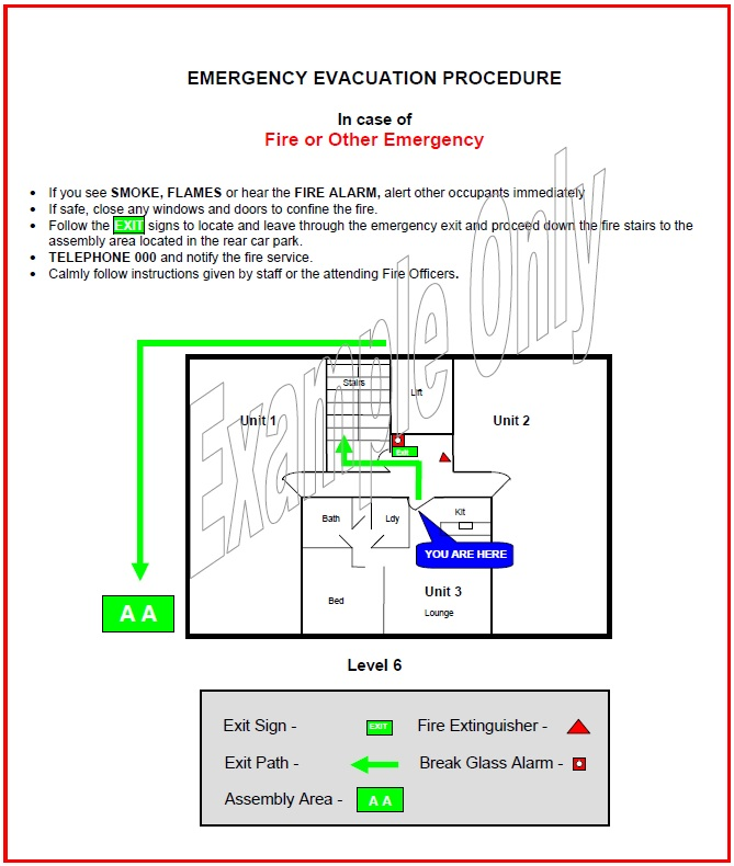fire and evacuation instruction low occupancy buildings