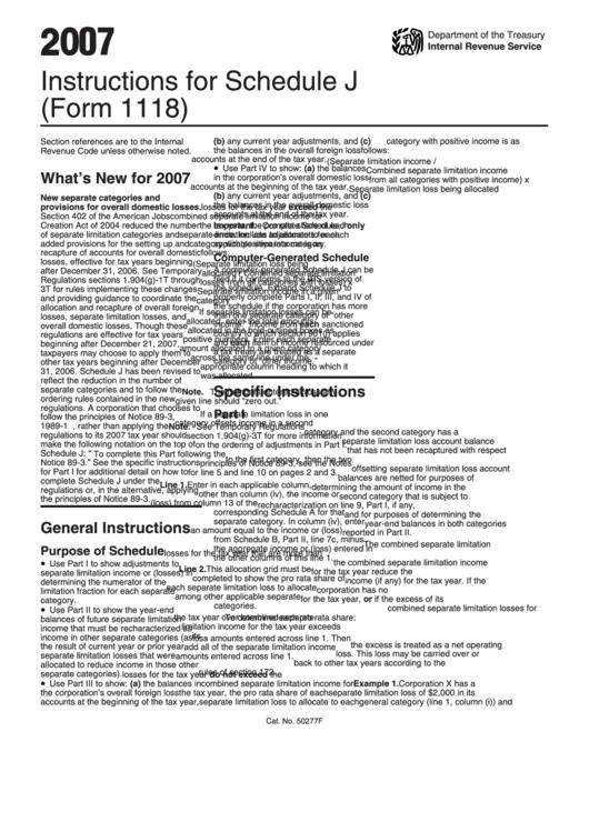 form 1120 schedule j instructions