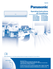 panasonic air cs-re18ljr instruction manual